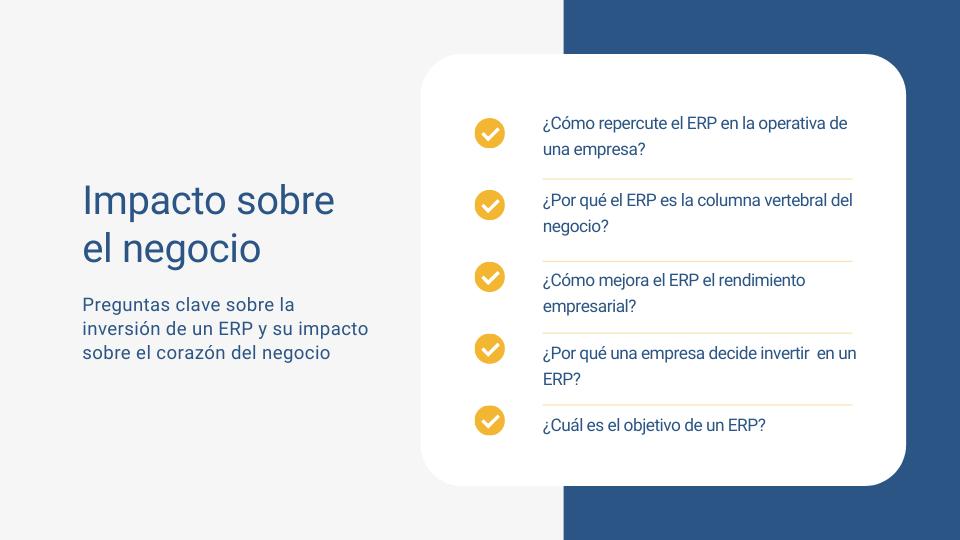 impacto de la inversión en un ERP sobre el negocio